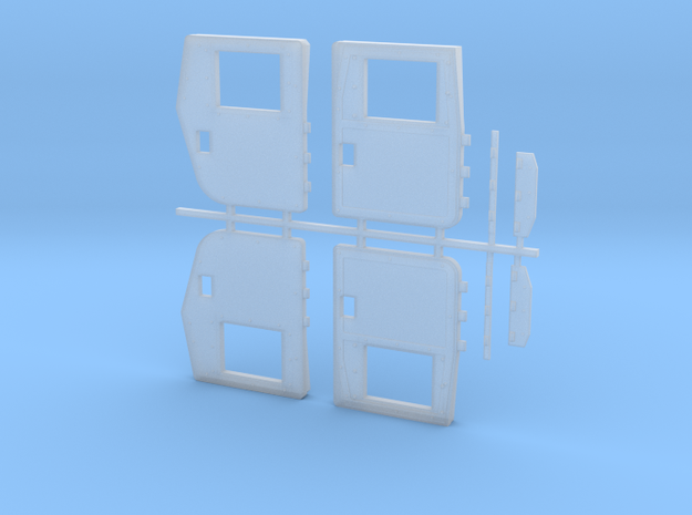 Armored doors for M1113 GMV  in Smooth Fine Detail Plastic