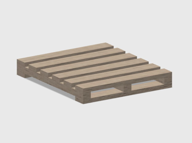 Pallet-2 (6 ea.) in White Natural Versatile Plastic: 1:87 - HO