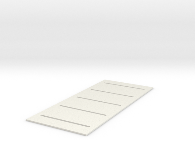 Parking Space Template (HO) in White Natural Versatile Plastic: 1:87 - HO