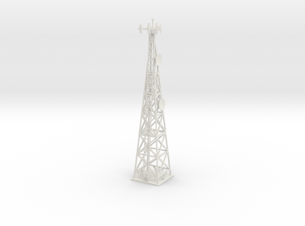 Cell Tower (HO) in White Natural Versatile Plastic: 1:87 - HO