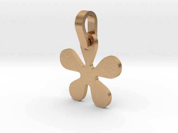 Asterisk Sign Letter Pendant Small in Natural Bronze (Interlocking Parts)