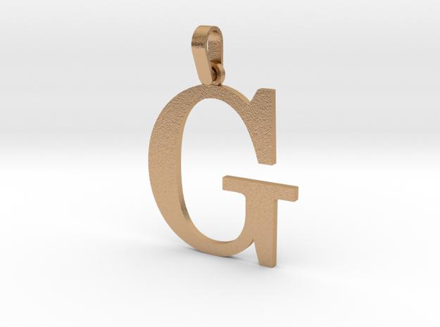 G Letter Pendant in Natural Bronze (Interlocking Parts)