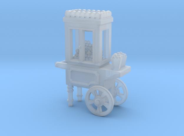 Popcorn Vendor Cart HO scale in Smooth Fine Detail Plastic