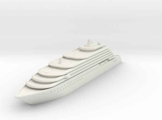 Ritz Carlton Yacht - V3 - 8cm in White Natural Versatile Plastic