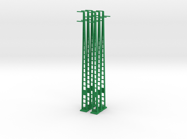 Strommast 25Kv 6 Stück in Green Processed Versatile Plastic
