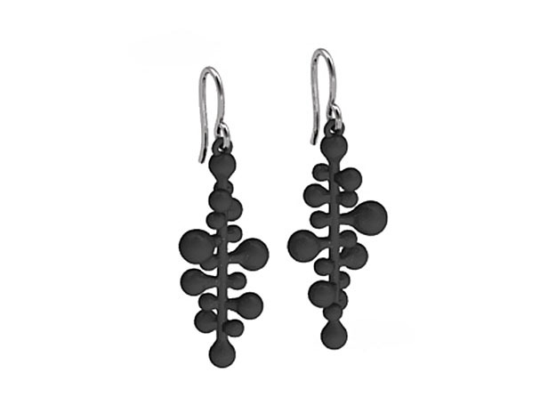 twist pair earing/parts 3d printed Black Strong & Flexible