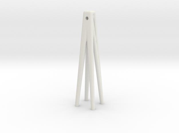 edges earring in White Natural Versatile Plastic