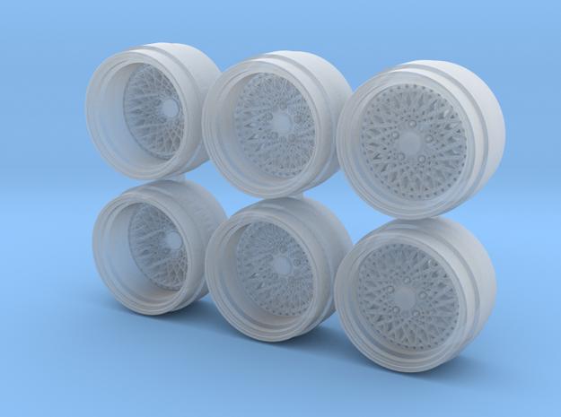 LHR 3P 9-0 Hot Wheels Rims in Smoothest Fine Detail Plastic