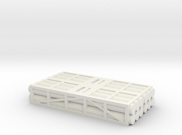 1 to 200 MLRS pod 2 pod stack in White Natural Versatile Plastic