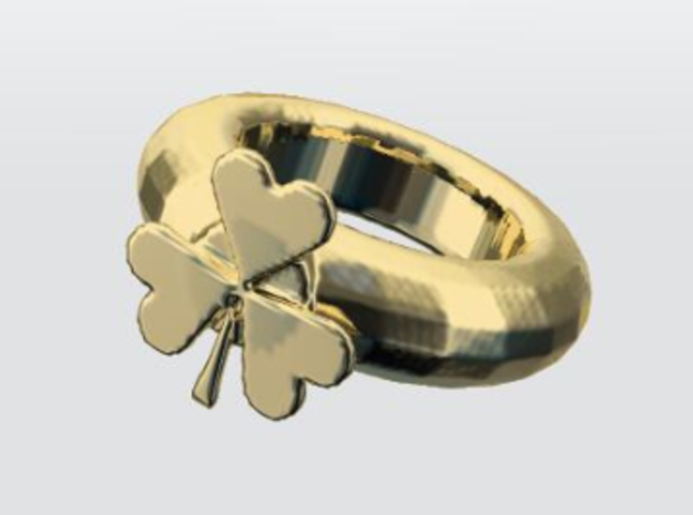 clover in Polished Brass