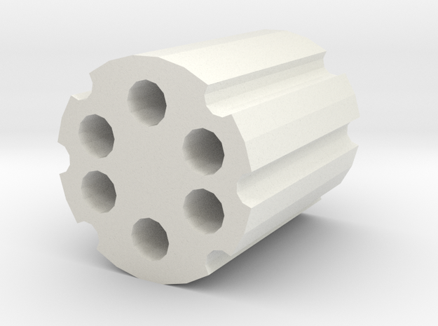 Revolver clips in the piggy bank in White Natural Versatile Plastic