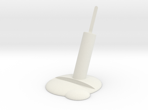 Melting popsicle phone stand in White Natural Versatile Plastic
