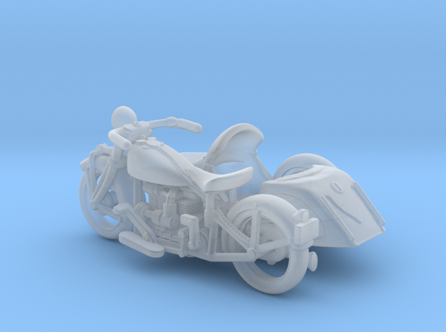 Indian Four Sidecar    1:120 TT in Smooth Fine Detail Plastic