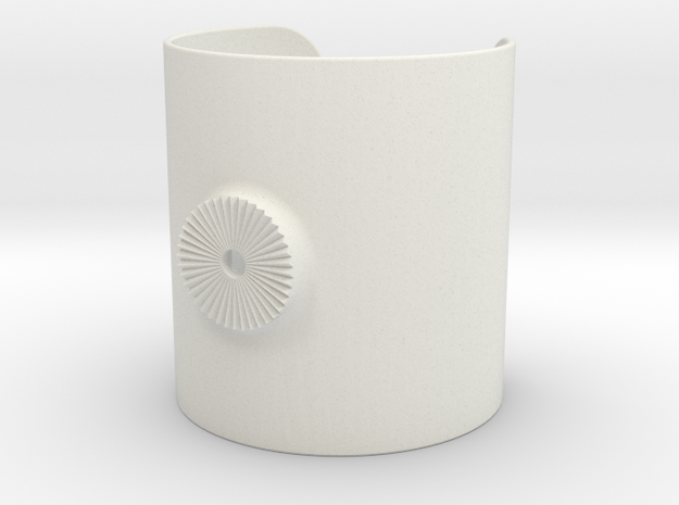 Armclamp_Elastic_80mm in White Natural Versatile Plastic