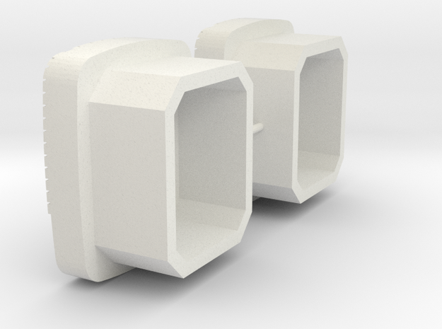 Tamiya Jeep CC-01 Taillight Set in White Natural Versatile Plastic