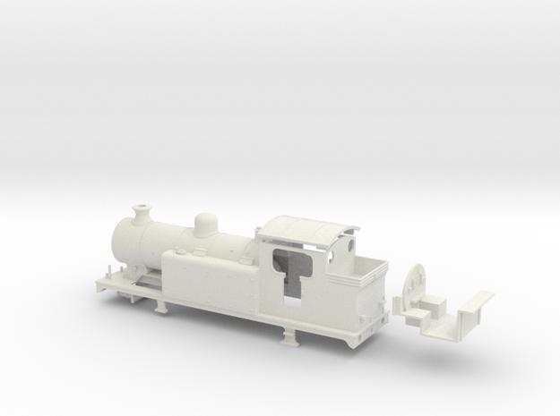 LBSCR E5-X - Southern/BR body (Single dome) in White Natural Versatile Plastic: 1:76 - OO