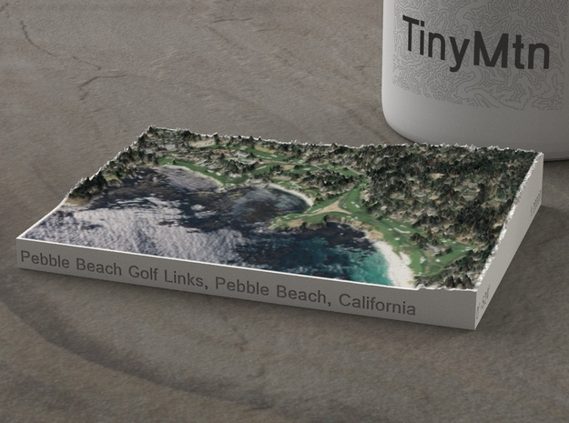 Pebble Beach Golf Links, California, 1:20000 in Natural Full Color Sandstone