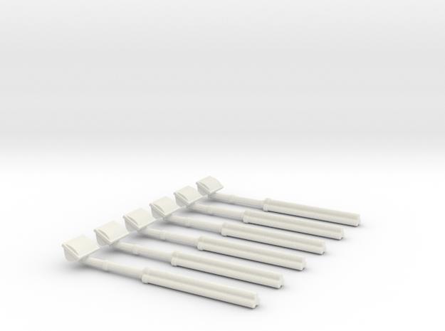 1/18 Scene Lights set of 6 in White Natural Versatile Plastic