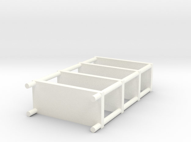 Shelf set in White Processed Versatile Plastic: Large