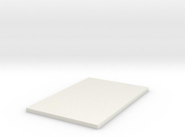 Snow Tropoer Side Greeblie in White Natural Versatile Plastic