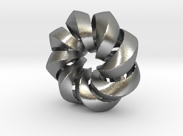 F - Helix in Natural Silver (Interlocking Parts)