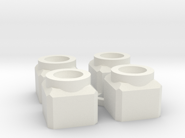 Rhino chassis magnetizing in White Natural Versatile Plastic