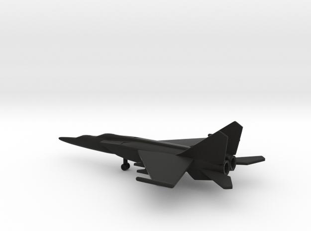 MiG-25PU Foxbat-C in Black Natural Versatile Plastic: 6mm