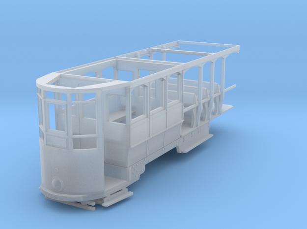 Wellington Tram Orig. Cond. Rear half in Smooth Fine Detail Plastic
