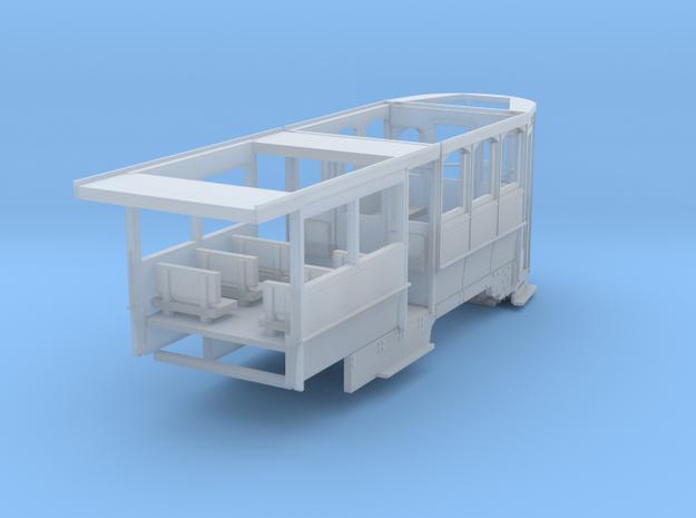 Wellington Tram Final cond. rear half motorisable in Smooth Fine Detail Plastic