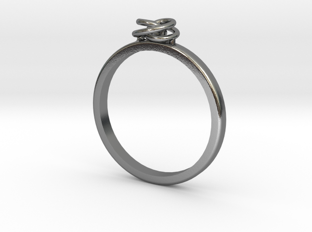 Spiral Ring in Polished Silver