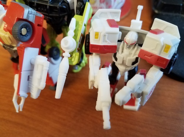 3mm Ratchet Weapons Pack in White Natural Versatile Plastic