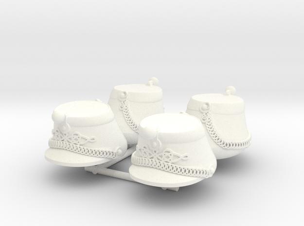 SHAKO ST CYR x4 in White Processed Versatile Plastic
