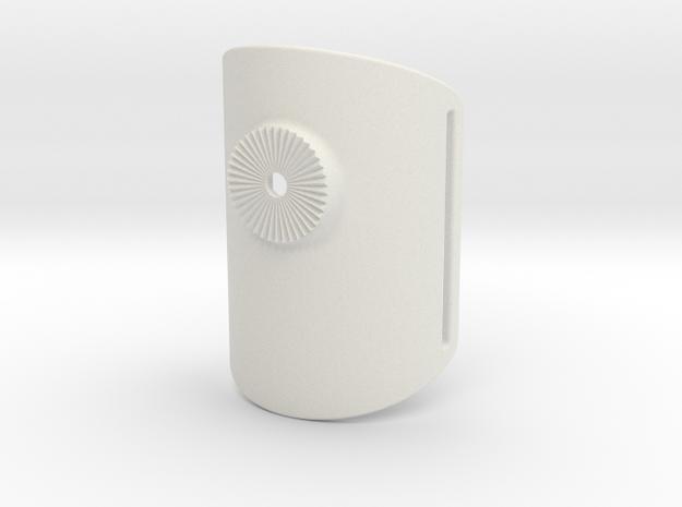 Armclamp_Textile_70mm in White Natural Versatile Plastic