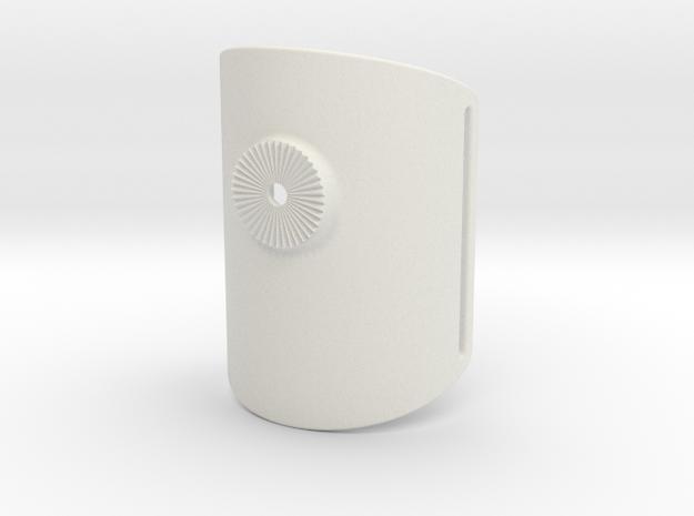 Armclamp_Textile_80mm in White Natural Versatile Plastic