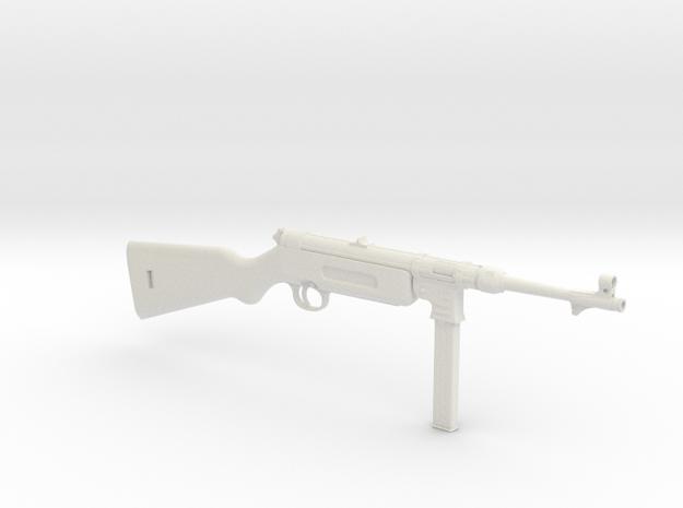 1/3 Scale MP41  Machine Gun in White Natural Versatile Plastic