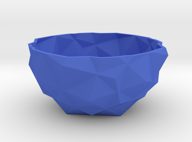 bowl one in Blue Processed Versatile Plastic