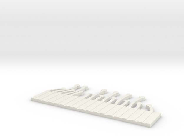 Main Blank Out 2 in White Natural Versatile Plastic