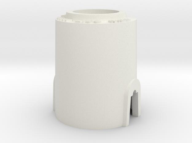 "PRHI Kenner Astromech Body 6"" Scale in White Natural Versatile Plastic"