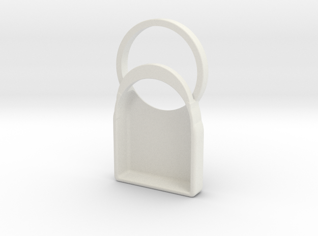 Miaomiao Holder in White Natural Versatile Plastic