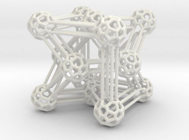 Heawood deluxe graph in White Natural Versatile Plastic: Medium