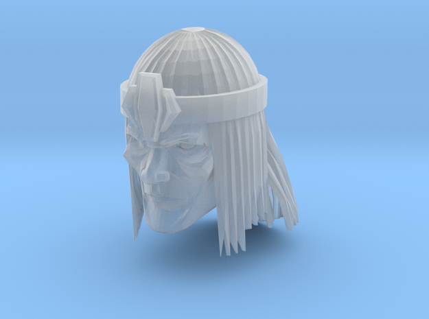 Barbarian Head with crown 1 in Smooth Fine Detail Plastic