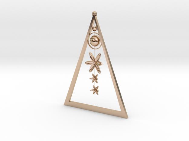 FL clip-on earrings in 14k Rose Gold