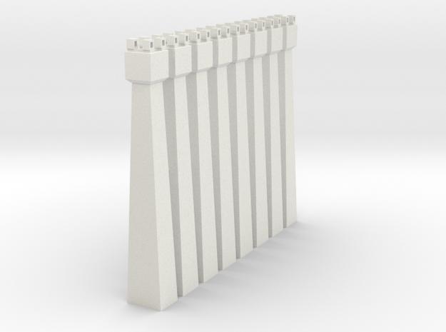 pylon_dl_104mm-x8 in White Natural Versatile Plastic