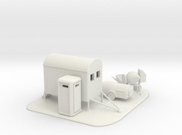 Baustellen Set 3 Spur N 1:160  in White Natural Versatile Plastic