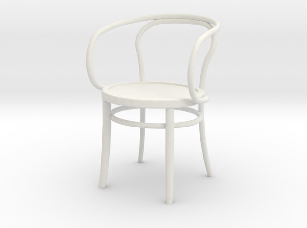 Thonet Final Arm Chair1-12REP in White Natural Versatile Plastic