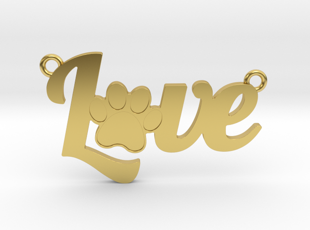 Unconditional Love II Pendant in Polished Brass