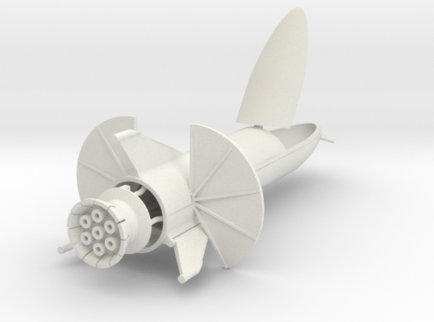 "Starship ""Chomper"" in 1:500  in White Natural Versatile Plastic"
