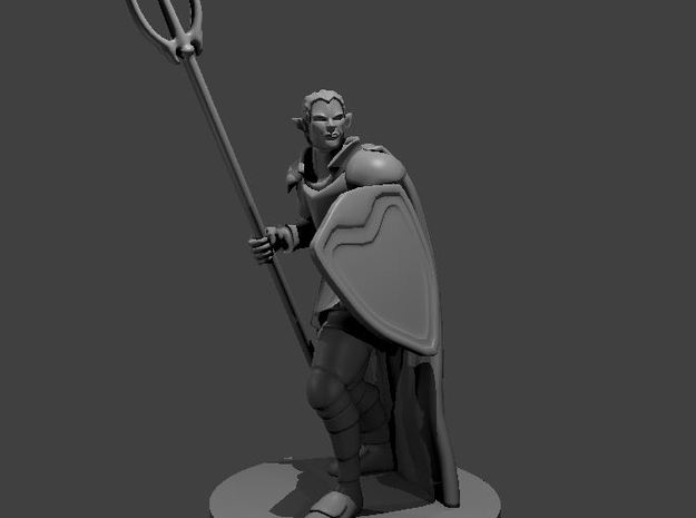 Male Elven Storm Cleric in Smooth Fine Detail Plastic