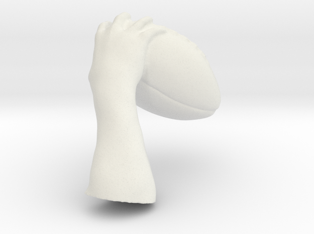 Drew Brees Football_handR in White Natural Versatile Plastic