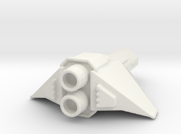 Destroyer space fighter in White Natural Versatile Plastic